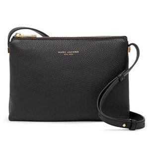 NEW Marc Jacobs Black Leather Crossbody Purse bag